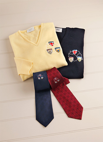 Printing and embroidery for scarfs, ties and badges